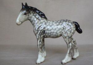 Beswick Shire Dapple Grey Foal horse figurine 1053